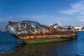 Ship wreck in Spain. — Stock Photo