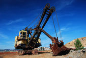 Old mining big machines backhoe — Stock Photo