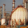 Big fuel tank in the refinery - Stock Photo