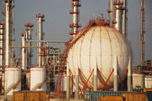 Big fuel tank in the refinery — Stock Photo