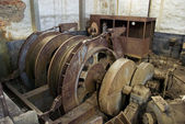 Abandoned big pulley mine. — Stock Photo