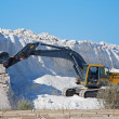 Stock Photo: Salt mine and machinery