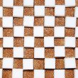 White and brown cubes of sugar — Stock Photo