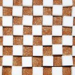 Stock Photo: White and brown cubes of sugar
