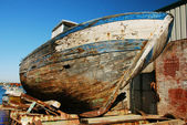 Old hull, ship wreck. — Stock Photo