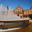 Fountain in Plaza de Espana, Seville. — Stock Photo