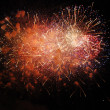 Stock Photo: Fireworks - Heart of fire in Spain