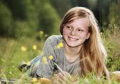 Pretty student girl — Stock Photo
