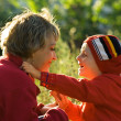 Mother and son in park - Lizenzfreies Foto
