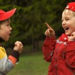 Two playful kids — Stock Photo