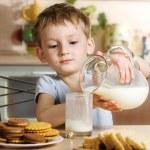 Breakfast with milk — Stock Photo #1722376