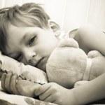 病気の少年 — ストック写真