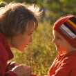 Mother and child on walk — Stock Photo