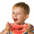 Child with water-melon — Stock Photo #1724671