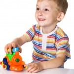 çocuk oyuncak araba ile — Stok fotoğraf