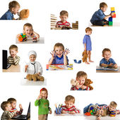 Set playing child — Stockfoto