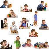 Uppsättning spelar barn — Stockfoto