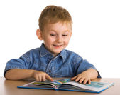 Child with the book — Stock Photo