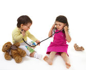Little doctor and patient — Stock Photo