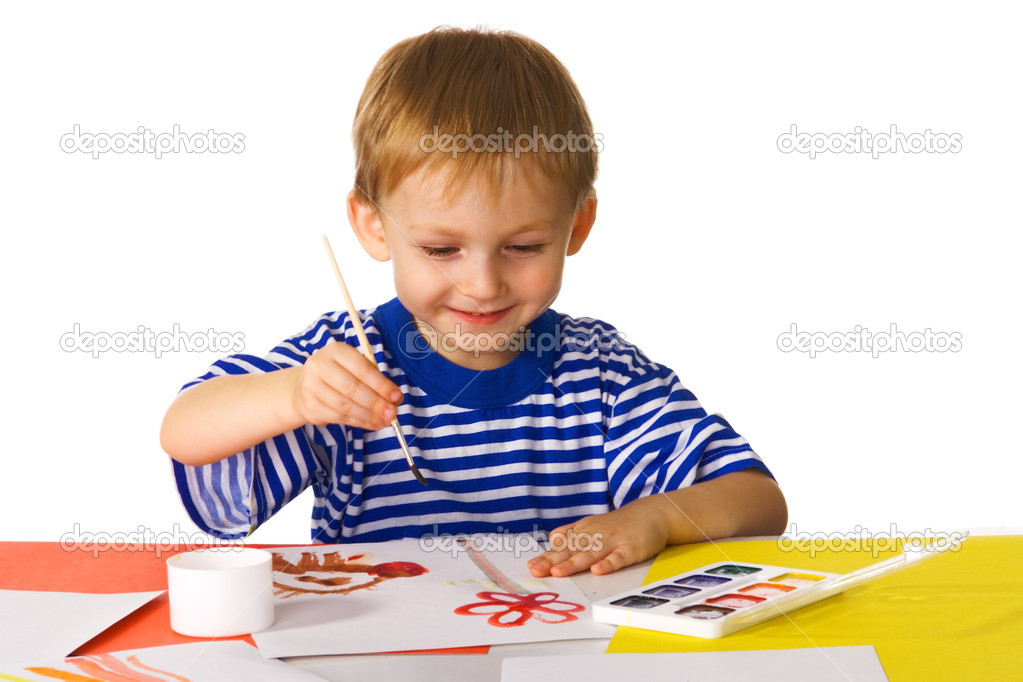 Small painter — Stock Photo #1720851