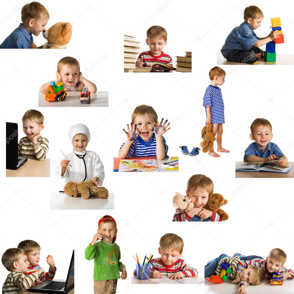 Set playing child  Stok fotoraf #1721573