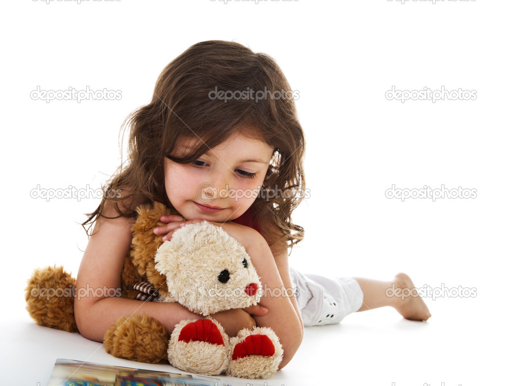 Little girl with book  Stock Photo #1723416