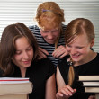 Stockfoto: Cheerful schoolgirls