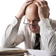 Problems of old accountant — Stock Photo #1730909