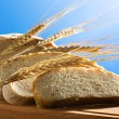 Fresh wheat bread - Stock Photo