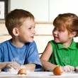 Children's cooking — Stock Photo