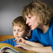 Stock Photo: Family reading