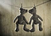 Dois ursos de pelúcia — Foto Stock