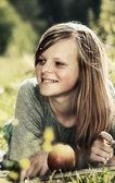 Vintage teenage girl — Stock Photo
