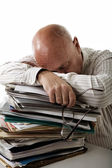 Tired accountant — Stock Photo