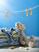 Clean laundry — Stock Photo