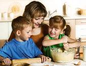 Baking together — Stock Photo