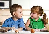 Children's cooking — Stock Photo