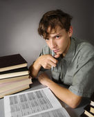 Difficult doing homework — Stock Photo