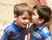 Boys telling secrets — Stock Photo