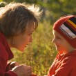 Mother and the child on walk — Stock Photo