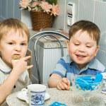 Two cheerful kids — Stock Photo