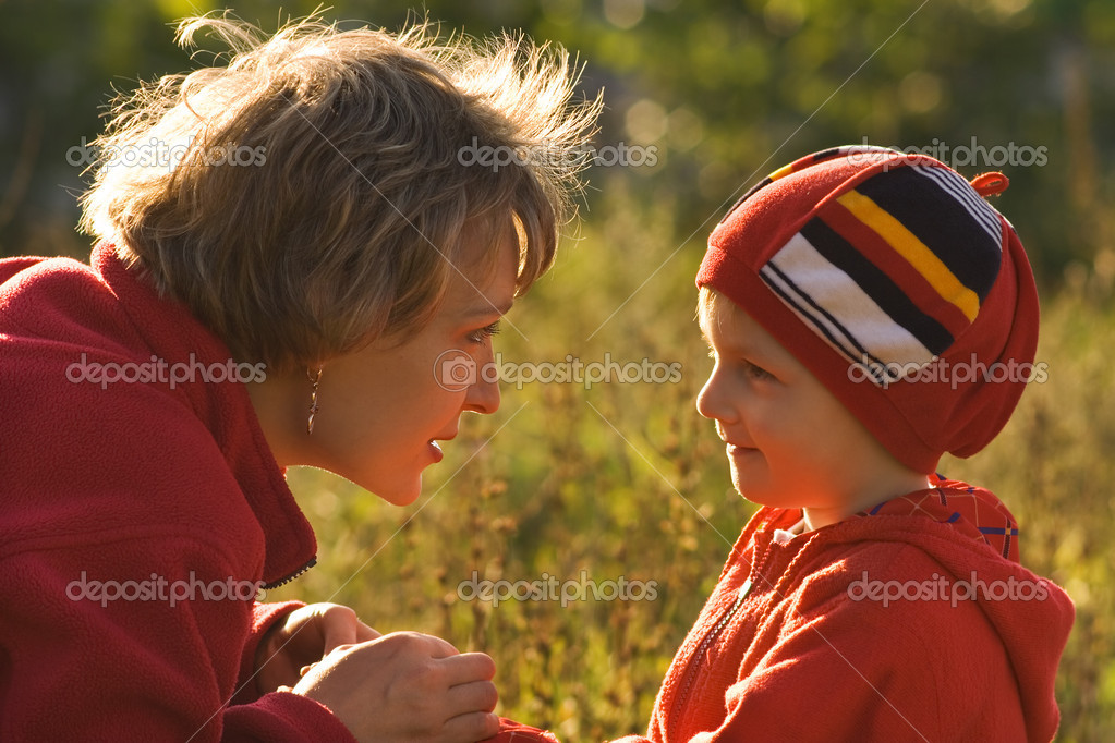 Mother and the child on walk  Stock Photo #1741907