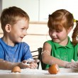 Little assistants on kitchen — Stock Photo #1795962