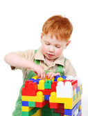 Kid with toy blocks — Stock Photo
