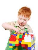 Kid with toy blocks — Stock Photo