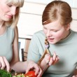 Family preparation of meal — Stock Photo #2187831