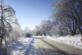 Winter road. — Stock Photo