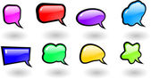Vector color shiny speech bubbles set — Stock Vector