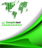 The vector green abstract background — Stock Vector