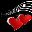 Royalty-Free Stock Vector Image: Music heart